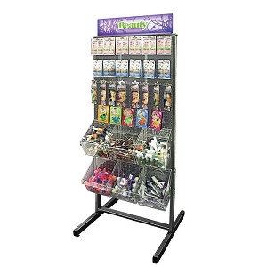 2-Sided Pegboard Floor Display - Includes Wheels