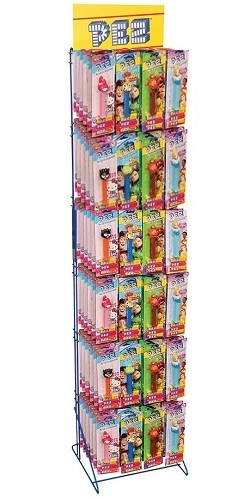 Pez Rack W Pez Blister Packs Pez Candy Displays Pez Rack