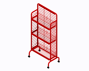 Premier 3 Shelf Snack Rack - Red