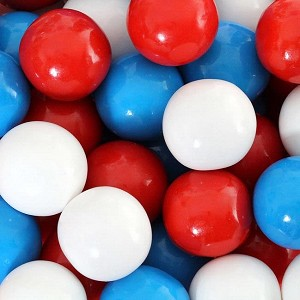 "Red White & Blue 1"" Gumballs - 850ct"