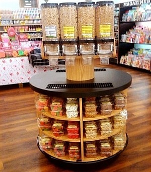 Round Retail Island Display Package
