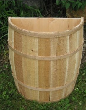 "False Bottom Half Barrel - 20""W x 22""H"