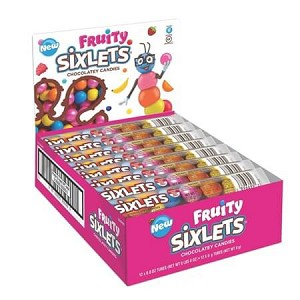 Sixlets Fruit 12-Ball Tube - 72ct
