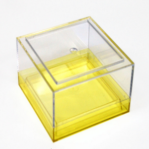 Small Box Canister with Colored Base - 6ct