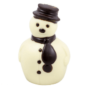 Small Solid White Chocolate Snowman - 9ct