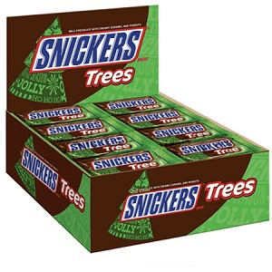 Snickers Christmas Trees - 24ct
