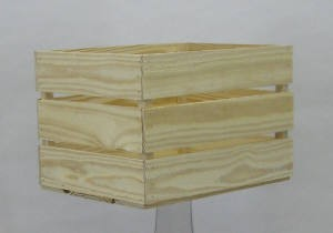 Solid Pine Wooden Crate - 2ct - Color Choice