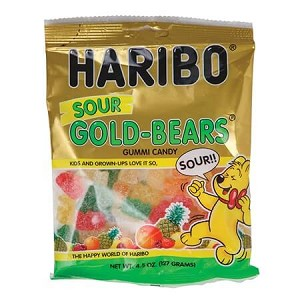 Sour Gummy Bear Assortment Bag 12ct