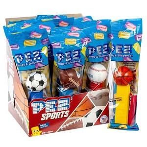 Sports Assorted PEZ Dispensers - 12ct