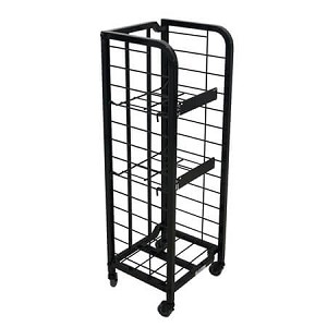 Tall Black Newspaper Rack