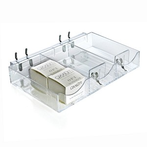 Three Compartment Cosmetic Tray - 2ct