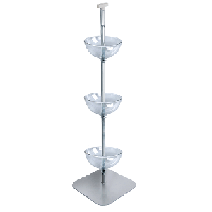 "Three Tier 12"" Bowl Floor Display"