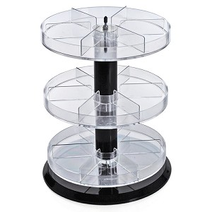 Three Tier Counter Display with Dividers