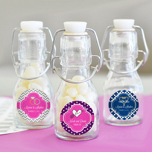 Traditional Wedding Mini Glass Bottles - 24ct