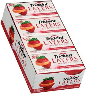 Trident Layers Strawberry/Citrus - 12ct