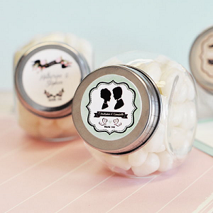 Vintage Wedding Glass Candy Jars - 24ct
