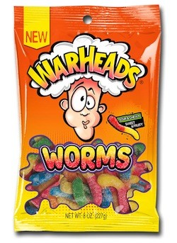 Warhead Gummy Worms  - 12ct