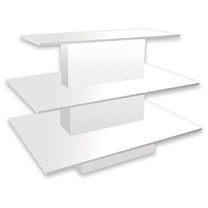 White 3 Tiered Display Table
