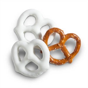 White Frosted Pretzels - 10lbs