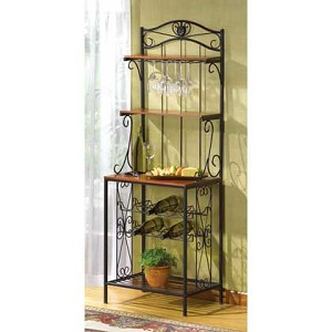 Wine Storage Bakers Rack