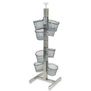 Wire 8 Basket Slotted Tower Display