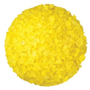 Yellow Lemon Rock Candy Crystals - 10lbs