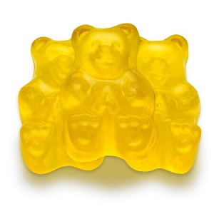 Yellow Mighty Mango Gummi Bears - 5lbs